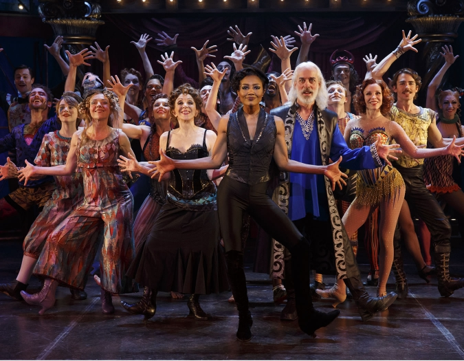 <em>Pippin</em> at Broadway's Music Box Theatre, NYC. Pictured: The cast of <em>Pippin</em>. Photo © 2013 Joan Marcus.