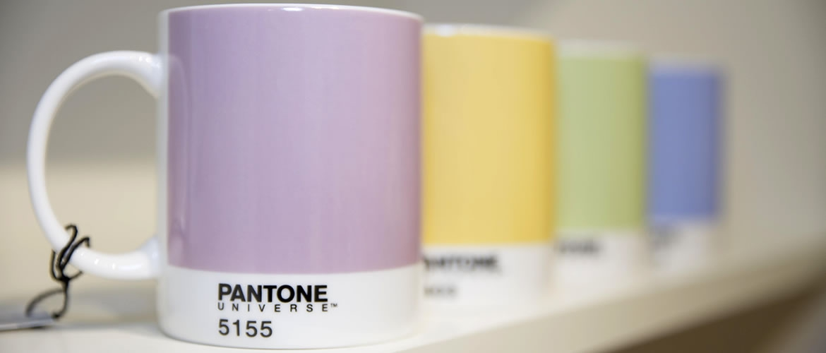 PANTONE, the global authority on color and provider of professional color standards for the design and creative industries, including porcelain mugs.
