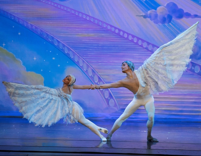 Image of the performers of the Moscow Ballet during performance
