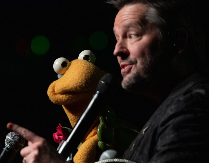Image of Terry Fator on stage during performance
