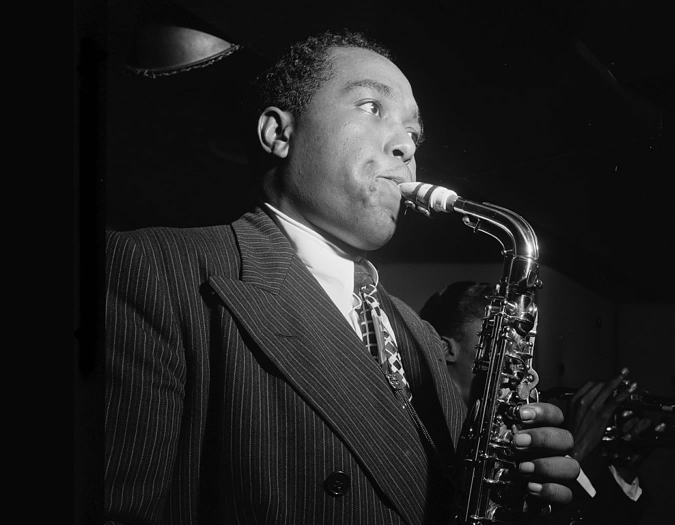 Image of Charlie Parker in a promotional portrait