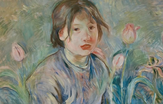 Berthe Morisot (French, 1841-1895). Peasant Girl among Tulips, 1890.