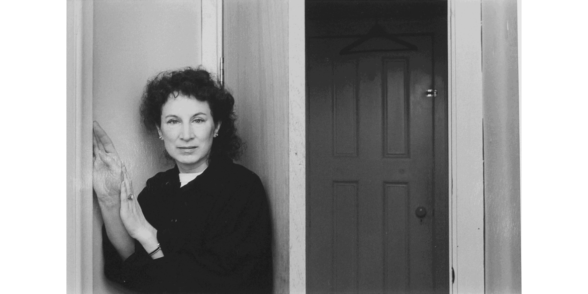 Duane Michals (American, born 1932). Margaret Atwood, ca. 1990s/printed 2015. Gelatin silver print with hand-applied text, 10 7/8 x 13 7/8 inches (sheet). © Duane Michals. Courtesy of DC Moore Gallery, New York.
