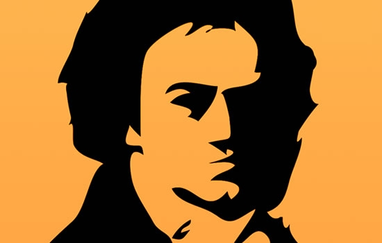 Stylized artistic rendering of Beethoven
