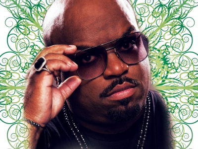 Image of CeeLo Green in a promotional holiday design
