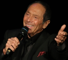 Image of Paul Anka on stage during performance