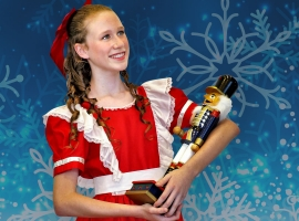 Image of a student performer in The Nutcracker as presented by the Naples Ballet