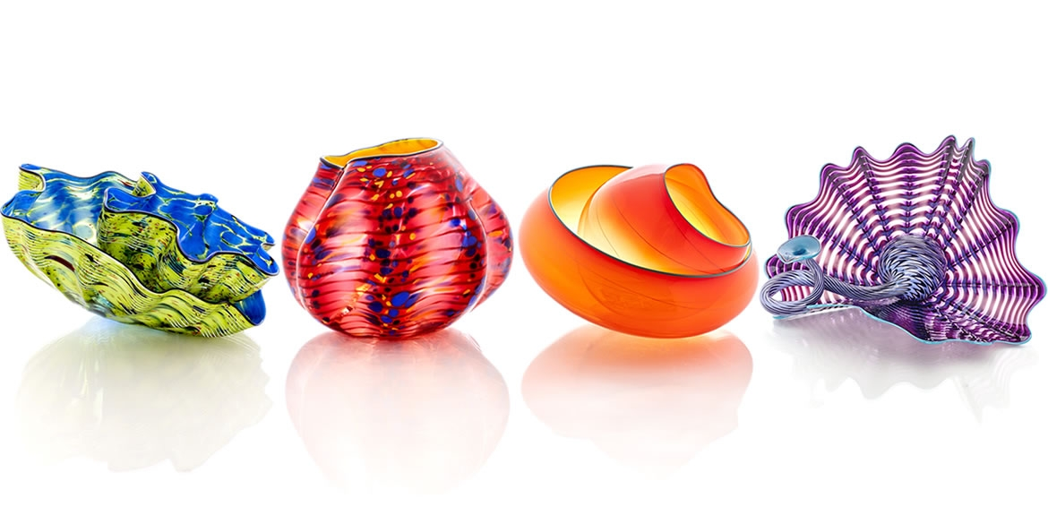 Take home your own original Chihuly — each Chihuly Workshop Studio Edition is handblown and signed by the artist, Dale Chihuly.