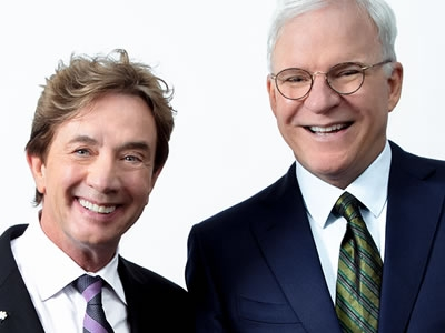 Image of Steve Martin and Martin Short who will be in concert for the Naples Internal Film Festival Closing Night