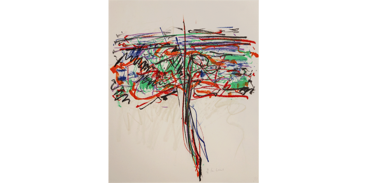 Joan Mitchell (American, 1925-1992). Tree I, edition 43/94, 1992. Color lithograph. 24 1/2 x 20 inches. Artis—Naples, The Baker Museum. 2007.4.049. Museum purchase from the Dr. Robert B. and Dorothy Gronlund Collection. © Estate of Joan Mitchell.