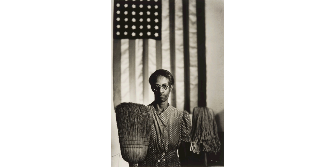 Gordon Parks (American, 1912-2006). American Gothic (Emma Watson), Washington, D.C., 1942. Gelatin silver print, 18 x 12 inches. Artis—Naples, The Baker Museum. 2010.10.2. Gift of Wynnell and George Schrenk.