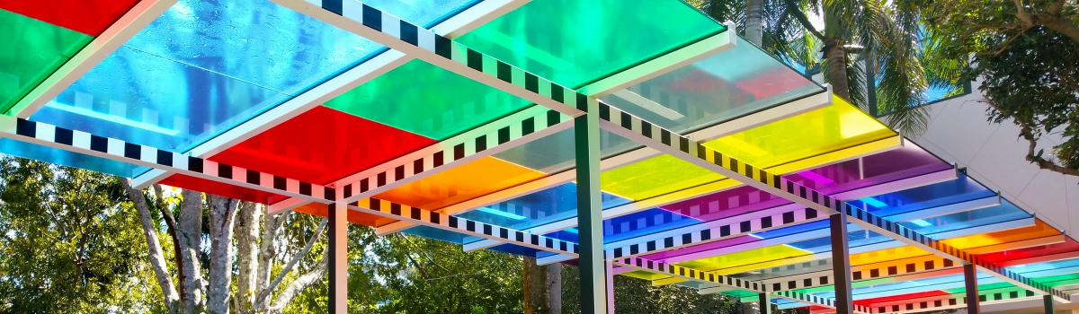 Daniel Buren  The colors above our heads are under our feet as well Work in situ, 2018