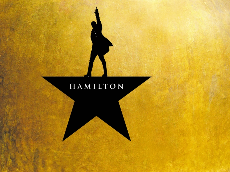 Image of Hamilton logo in a promotional portrait