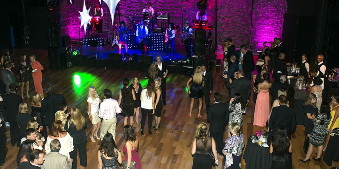 Image of attendees of the Naples International Film Festival dancing in after-party celebration
