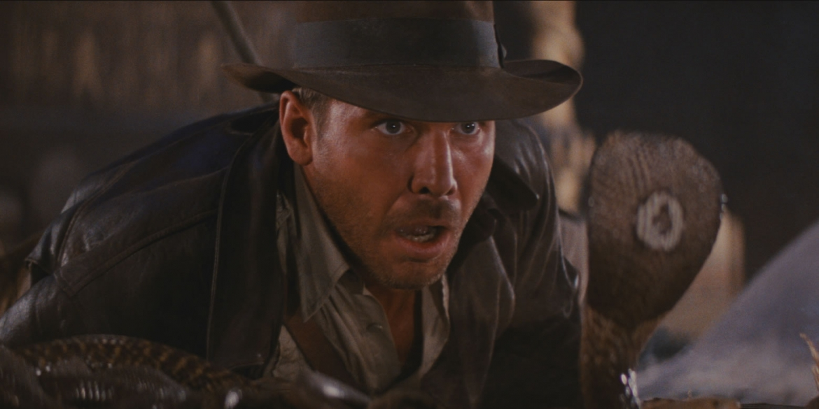Image of a promotional still for the film Raiders of the Lost Ark which will be featured during the Naples International Film Festival