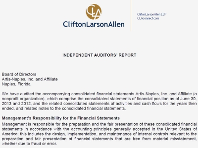 Image of letter of audit