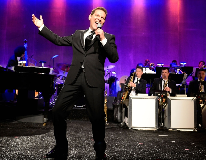 Image of Michael Feinstein on stage during performance