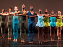 Image of members of The Dance Theatre of Harlem on stage during a performance