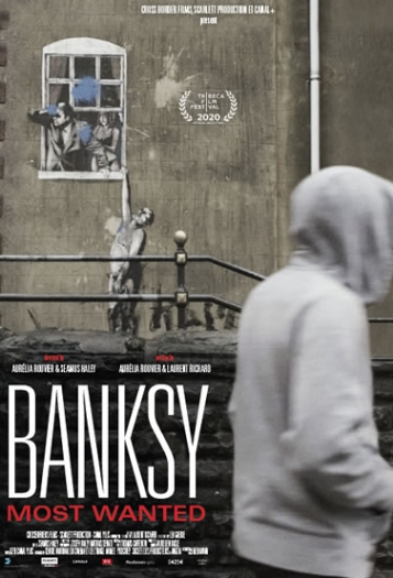 Image of a poster for the film Banksy Most Wanted which will be featured during the Naples International Film  Festival