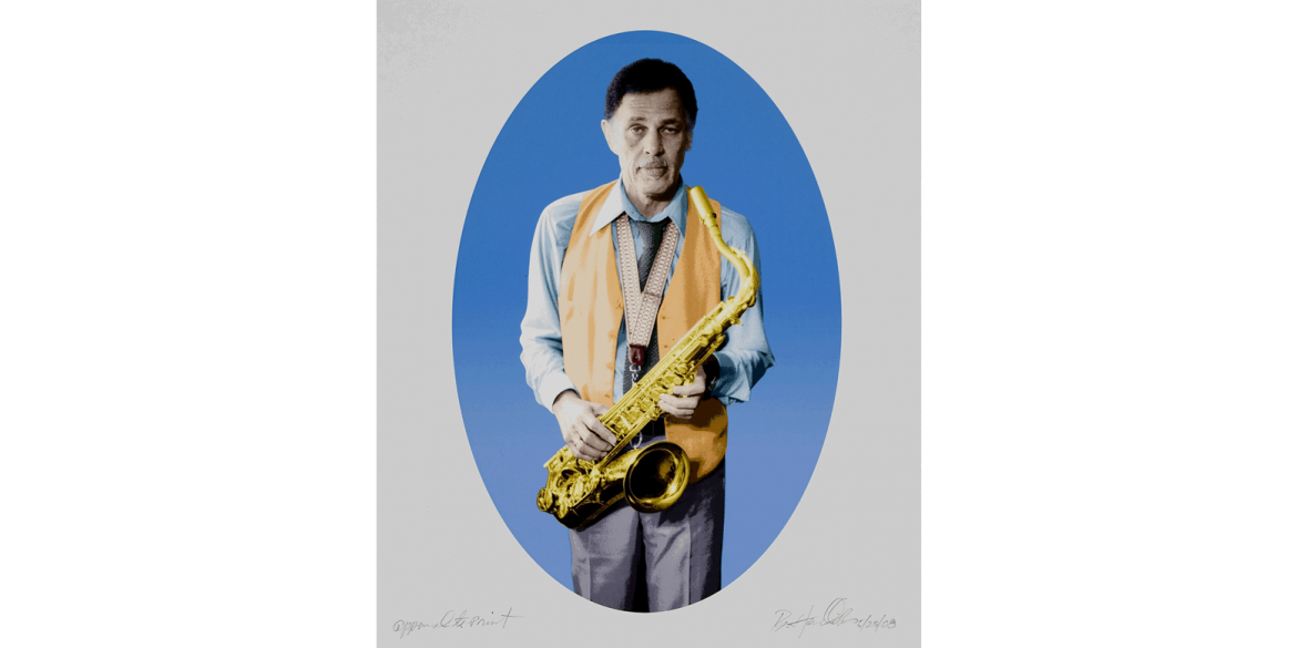 Barkley L. Hendricks (American, 1945–2017). Dexter Gordon, edition of 20, 2008. Inkjet print on Digital Hahnemühle German etching ArtLine textured paper, 18 x 15 inches. Published by the Brodsky Center at PAFA, Philadelphia. Collaborating Master Printe