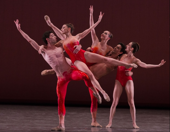 Image of Miami City Ballet on stage during a performance