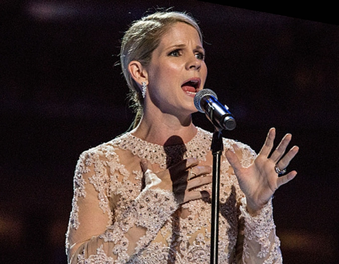Image of  Kelli O'Hara, vocalist, in a promotional portrait
