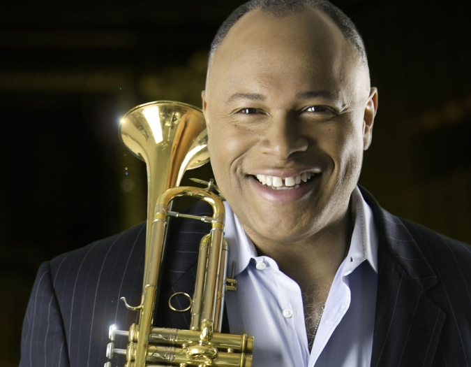 Image of Byron Stripling, trumpet and vocalist in a promotional portrait